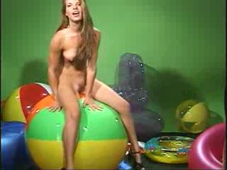 Sherrie beachball full (inflatable fetish, pvc, vinyl, aufblas, b...